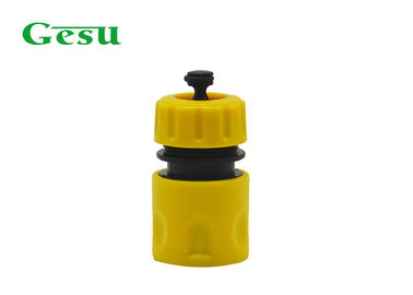China Plastic Quick Connect Garden Hose Fittings With Water Stop / OPP Bag supplier
