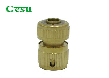China Heavy Duty Brass Garden Hose Connectors Without Stop For Lawn Irrigation supplier