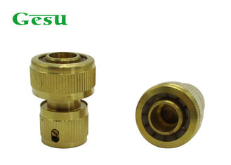 China 3/4 Inch PVC Hose Brass Garden Hose Quick Connect Water Stop , 120g supplier