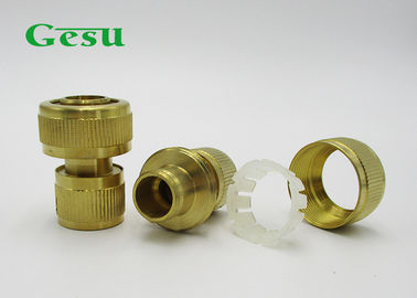 China High Strength Brass Garden Hose Connectors For Home Garden Tools supplier