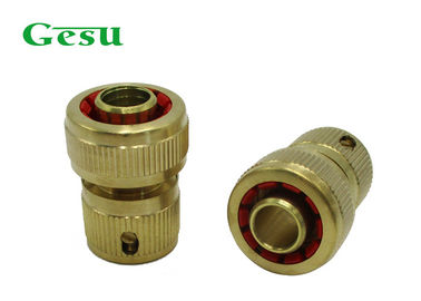 Outdoor 5/8 Inch Brass Garden Hose Connectors Garden Pipe Fittings Easy To Install