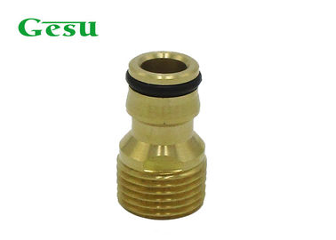 China BSP 1/2 Inch Brass Thread Adapter , Metal Outdoor Tap Hose Connector supplier