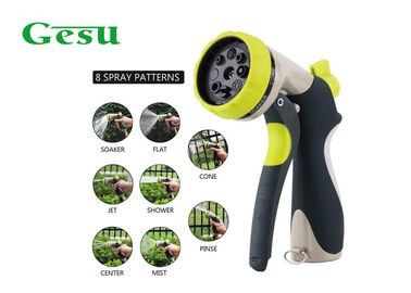 China 8 Way Adjustable Garden Hose Nozzle / Water Spray Gun Nozzle Variable Flow Control supplier