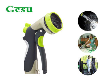 China Multi Function Watering Zinc Water Hose Spray Gun With Front Trigger Handle supplier