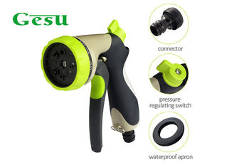 "China Garden Irrigation Hand Held Spray Nozzles 3/4"" Water Inlet 8 Function Sprinkler supplier"