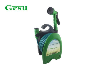 "Portable Garden Hose Reel Set 5/16"" Hose Of 10 Meters 7 Pattern Nozzle"