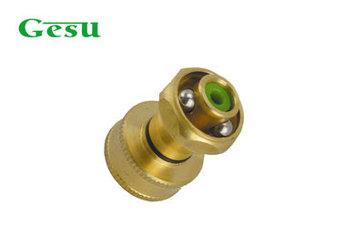 China 3/4 inch Thread Adjustable Spray Nozzle , Mini Solid Brass Water Hose Jet Nozzle supplier