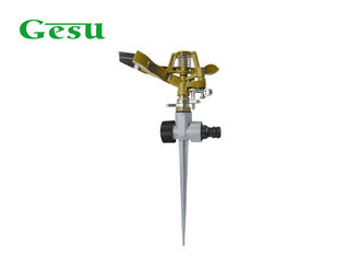 China T Metal Rotating Spike Lawn Sprinkler / Garden Water Sprinkler Anti Corrosion supplier