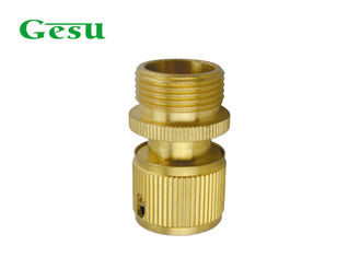 "Solid Brass Garden Hose Connectors 3/4"" Male Threaded with BSP or US Standard"