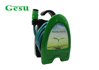 Freestanding Garden Hose Reel Set Hanger Courtyard Balcony Manual