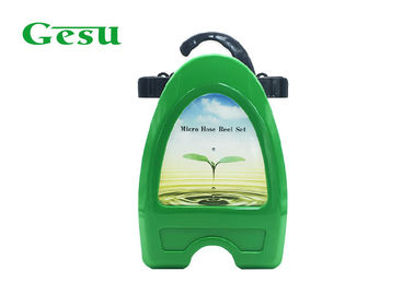 China Wall Mountable Garden Hose Reel Set Hanger With Laber , Green And Black supplier