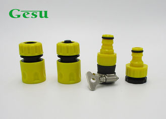 China Garden Hose Pipe Tap Connector / 4PCS Irrigation Plastic Quick Connect Set supplier