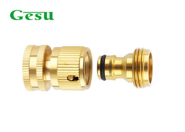 Male And Female 3/4 Inch Brass Hose Adapter / Hose Quick Connector Set