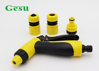 4 Pcs Spray Nozzle Set ABS Spray Gun With Connector , Reducer Tap Adaptor