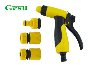 China Yellow Black Garden Hose Nozzle Settings / Portable Spray Gun Nozzle Set supplier