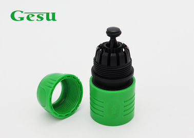 China PP Plastic Garden Hose Connectors With Water Stop Pin Rubber Sealing supplier