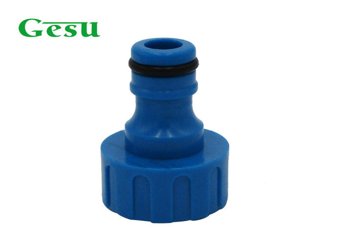 Custom Made Plastic Garden Hose Adapter 3/4 Inch BSP Thread For Tap