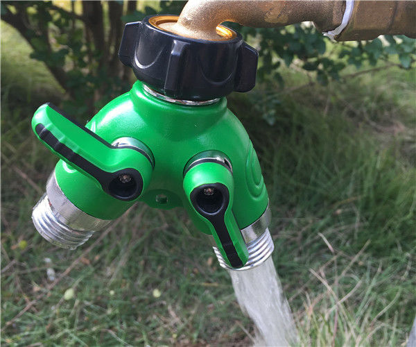 Universal Y Hose Fitting Garden Hose Tap Connector Fits With Outdoor Faucet