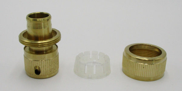 Custom Brass Quick Connect Hose Fittings , Garden Hose Replacement Parts