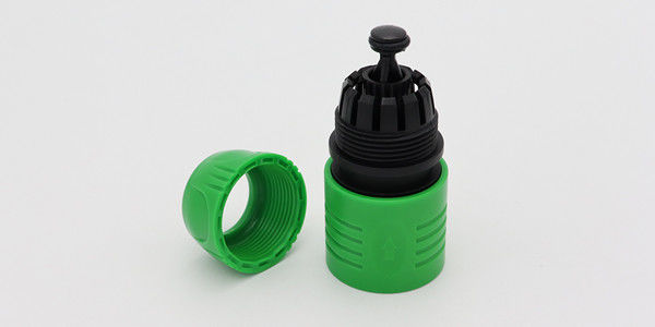 Green Garden Hose Repair Connector , 1/2 Inch Garden Hose End Fittings