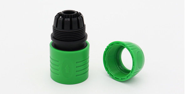 Gardening Irrigation Plastic Garden Hose Connectors Logo Printed Easy To Install
